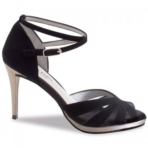"Chaussures de danse Anna Kern ""Dona"" 8 cm daim noir"