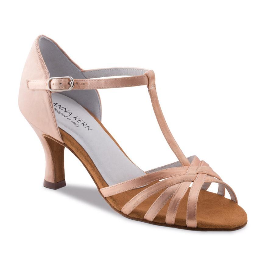 "Chaussures de danse Anna Kern ""Ania"" 6 cm satin Flesh"