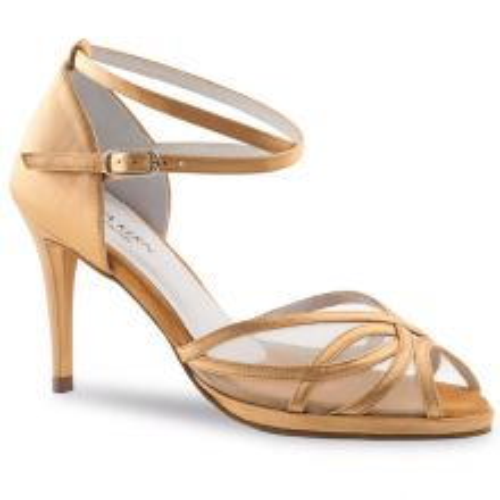 """Chaussures de danse Anna Kern """"Pandora"""" 8 cm satin Bronze"""