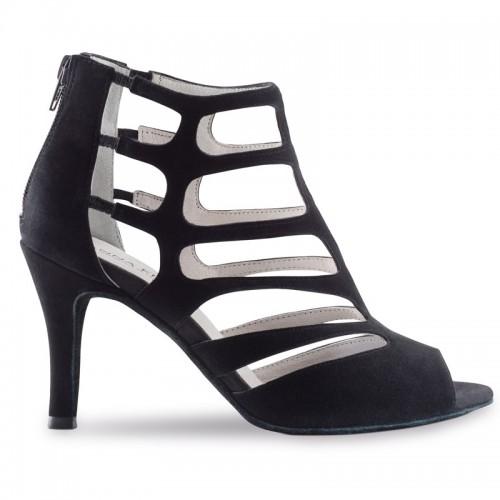 "Chaussures de danse Anna Kern ""Safa"" 7,5 cm daim noir"