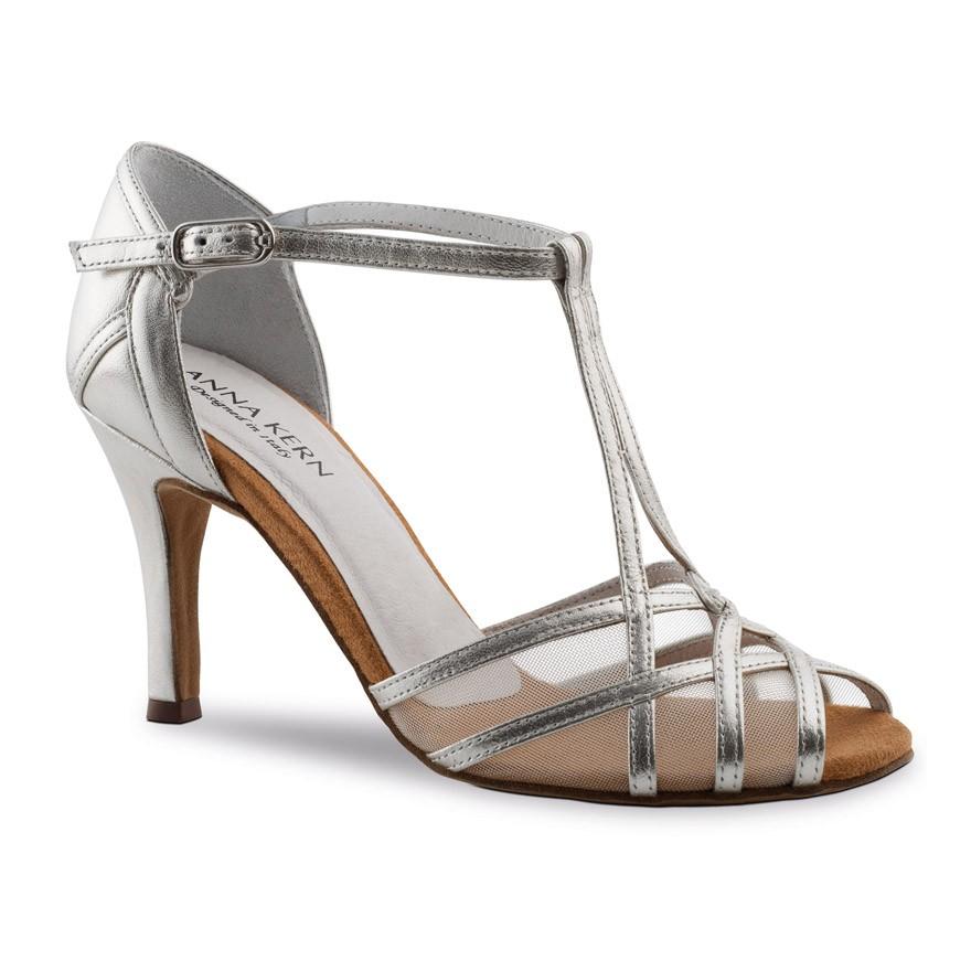 """Chaussures de danse Anna Kern """"Vena"""" 7,5 cm Cuir argent"""
