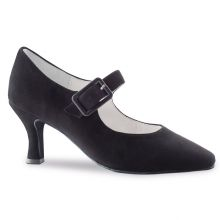 "Chaussures de danse Anna Kern ""Riona"" 6 cm daim noir"