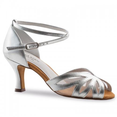 """Chaussures de danse Anna Kern """"Robina"""" 6 cm cuir argent"""