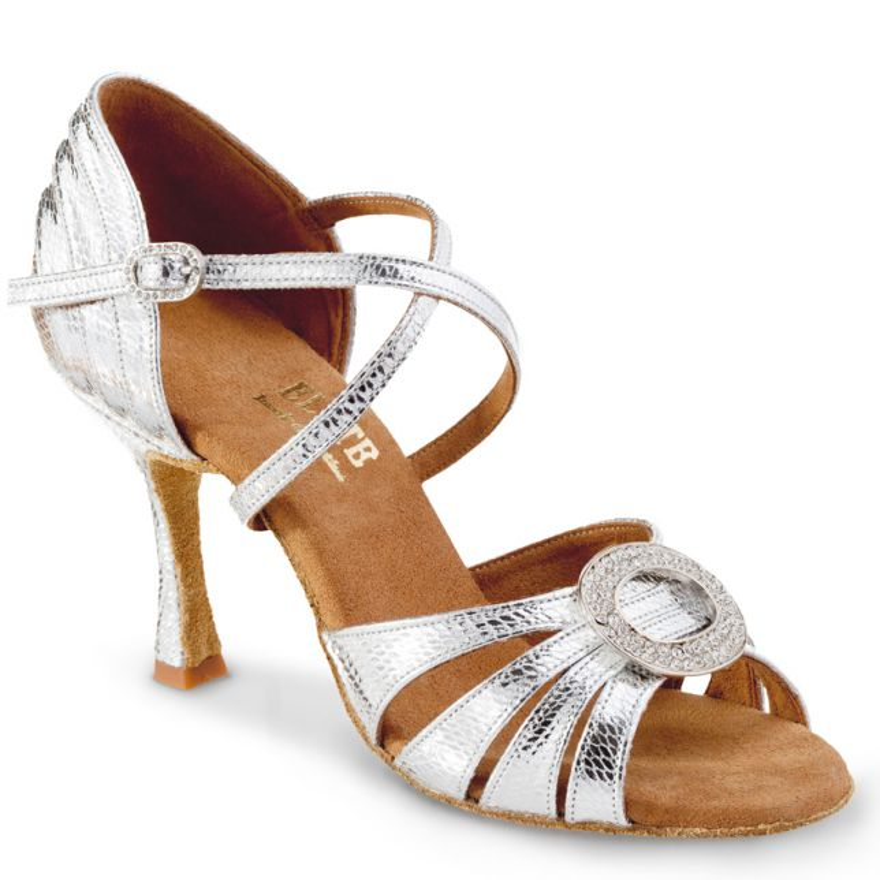 "Chaussures de danse Elite Rummos ""Amor"" cuir argent"