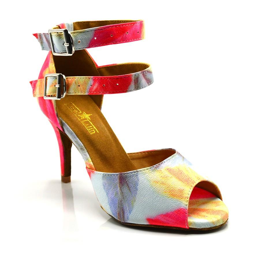 "Chaussures de danse salsa Label Latin ""Carina fleurie"""