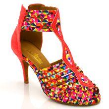 "Chaussures de danse kizomba Label Latin "" Oxana arlequin"""