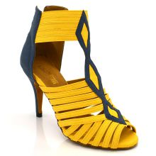 "Chaussures de danse kizomba Label Latin "" Oxana jaune"""