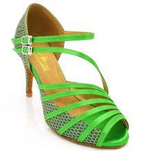 """Chaussures de danse salsa Label Latin """"Mandy"""" vert"""