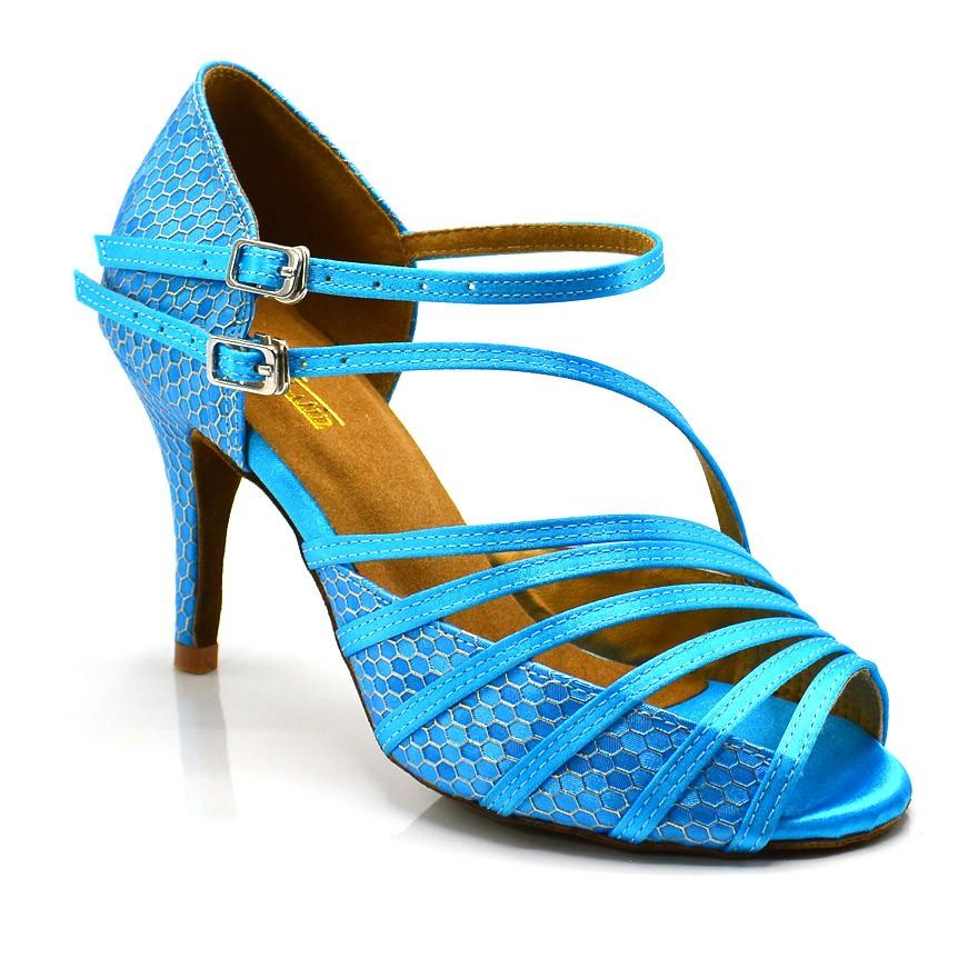 """Chaussures de danse salsa Label Latin """"Mandy"""" bleu"""