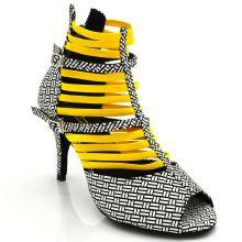 "Chaussures de danse kizomba Label Latin "" Nissa jaune"""