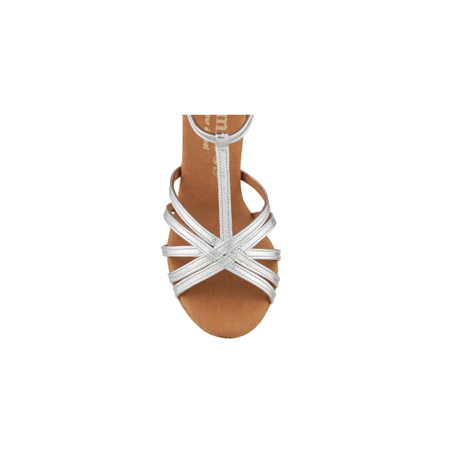 Chaussures de danse Rummos Bea cuir argent label