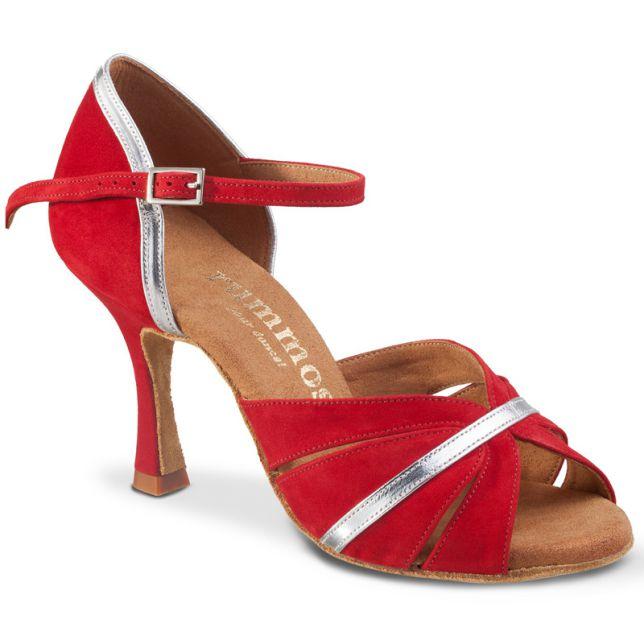 """Chaussures de danse Rummos """"Lorena"""" nubick rouge"""