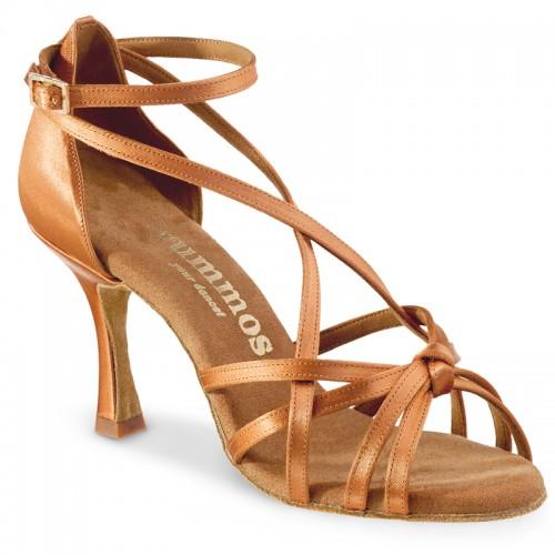 """Chaussures de danse Rummos """"Tahia"""" satin tan"""