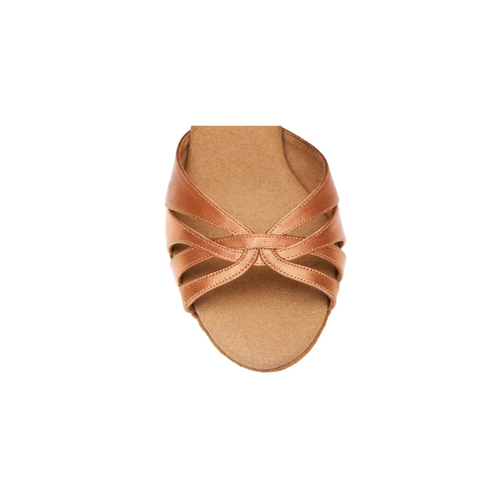 Chaussures de danse Rummos Lana satin tan foncé pointure
