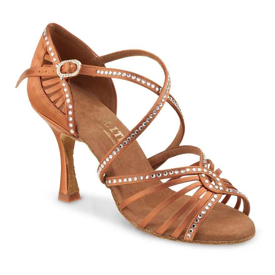 """Chaussures de danse Elite Rummos """"Luna"""" satin tan foncé"""