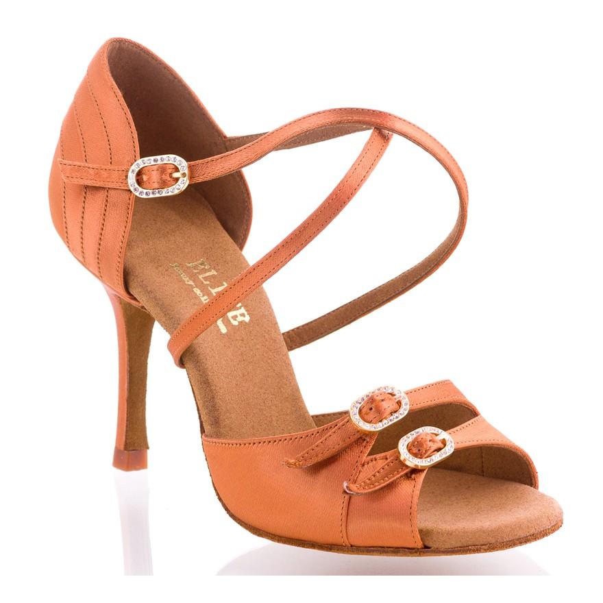 """Chaussures de danse Elite Rummos """"Diana"""" satin tan foncé"""