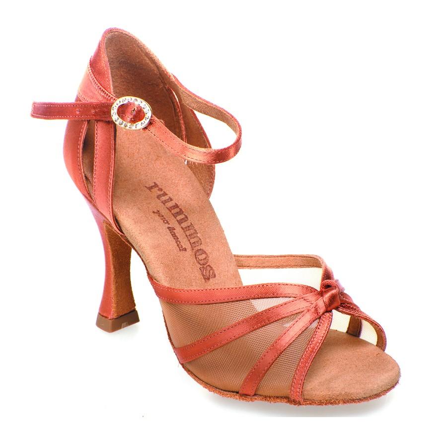 "Chaussures de danse Rummos ""Gretta"" satin tan foncé"