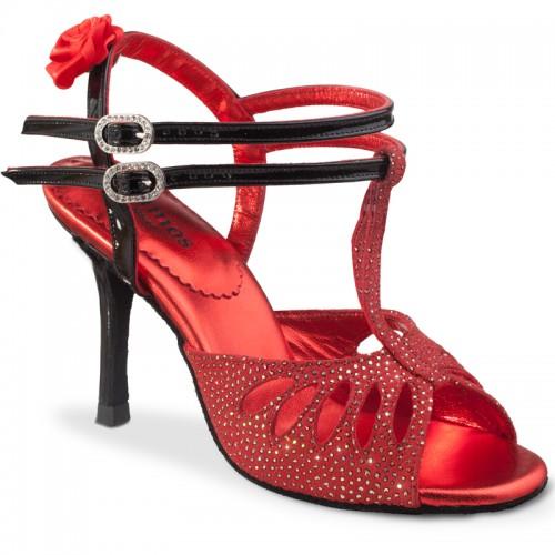 """Chaussures de danse Rummos """"Pasion"""" nubuck rouge"""