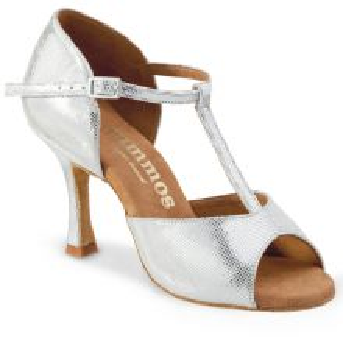 "Chaussures de danse Elite Rummos ""Lilla"" cuir argent shinny"