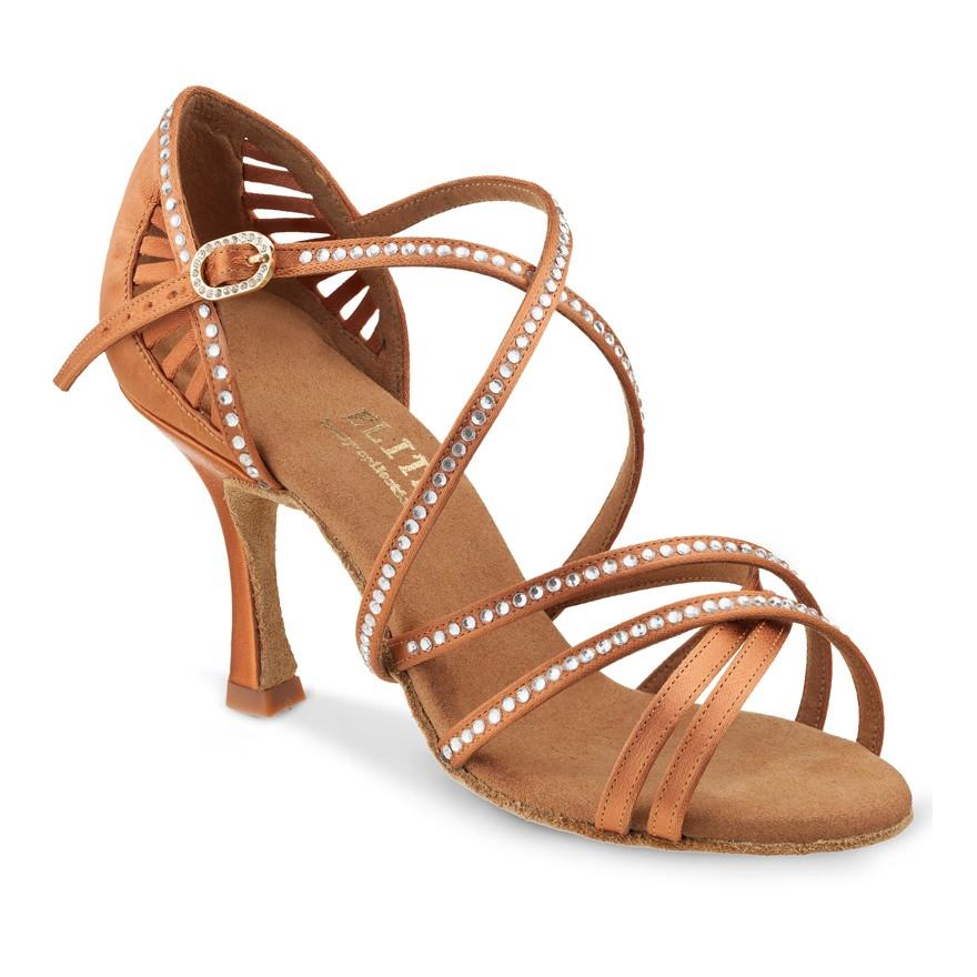 """Chaussures de danse Elite Rummos """"Melinda"""" satin tan"""