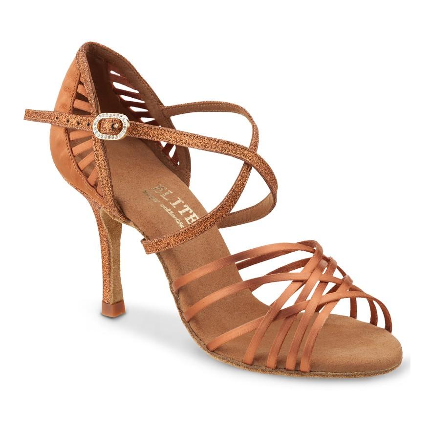 "Chaussures de danse Elite Rummos ""Sara"" satin tan"