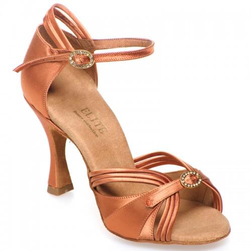 """Chaussures de danse professionelle Elite Rummos """"Cassandra"""" satin tan foncé"""