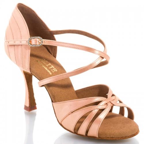 "Chaussures de danse Elite Rummos ""Paris"" satin tan flesh"