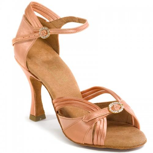 "Chaussures de danseprofessionnelle Elite Rummos ""Cassandra"" satin tan flesh"