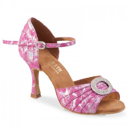 """Chaussures de danse professionnelle Elite Rummos """"Cléopatra"""" cuir rose"""