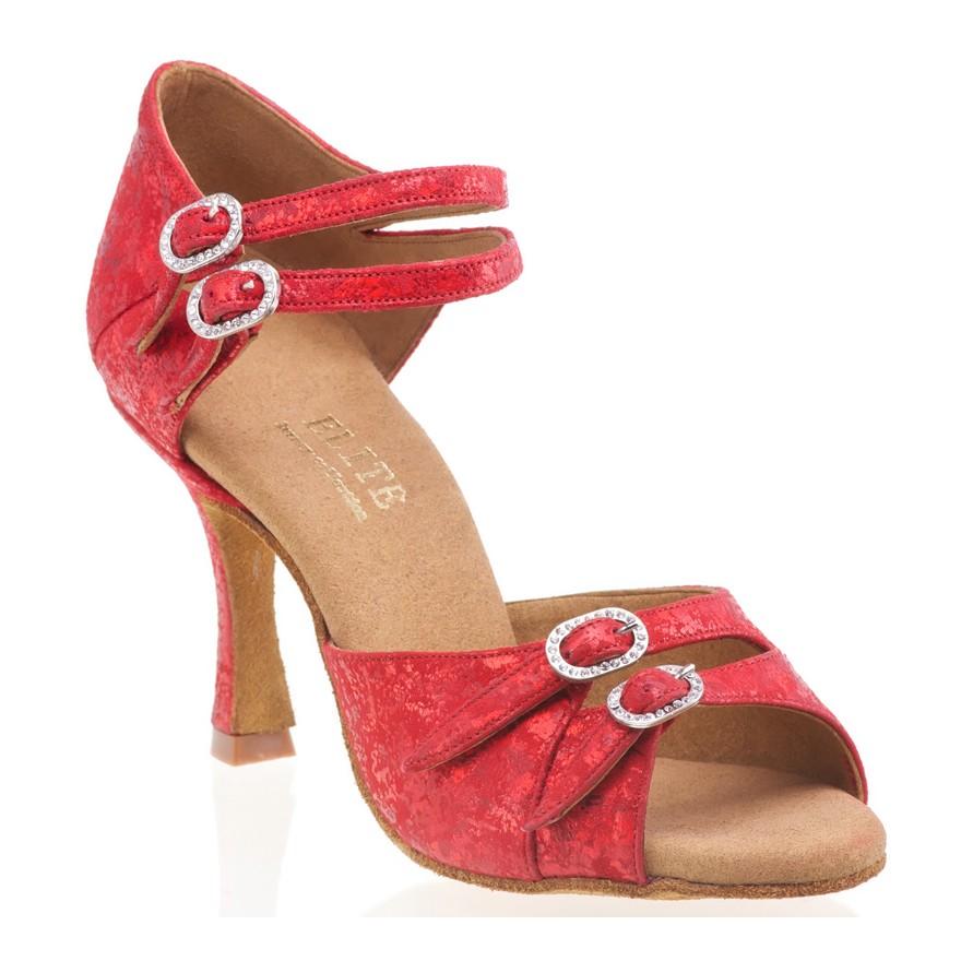 "Chaussures de danse professionnelleElite Rummos ""Elena"" cuir rouge"