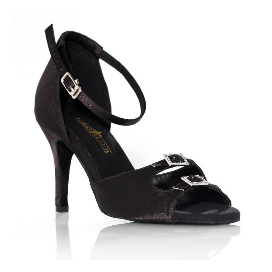 """Chaussure de danse Label Latin """"Strass"""" noire"""