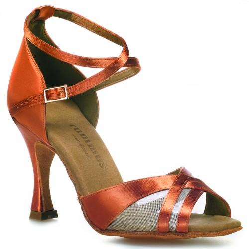 "Chaussures de danse Rummos ""Fabiola"" satin tan foncé"