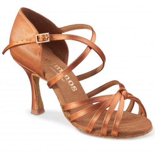 "Chaussures de danse Rummos ""Carola"" satin tan foncé"