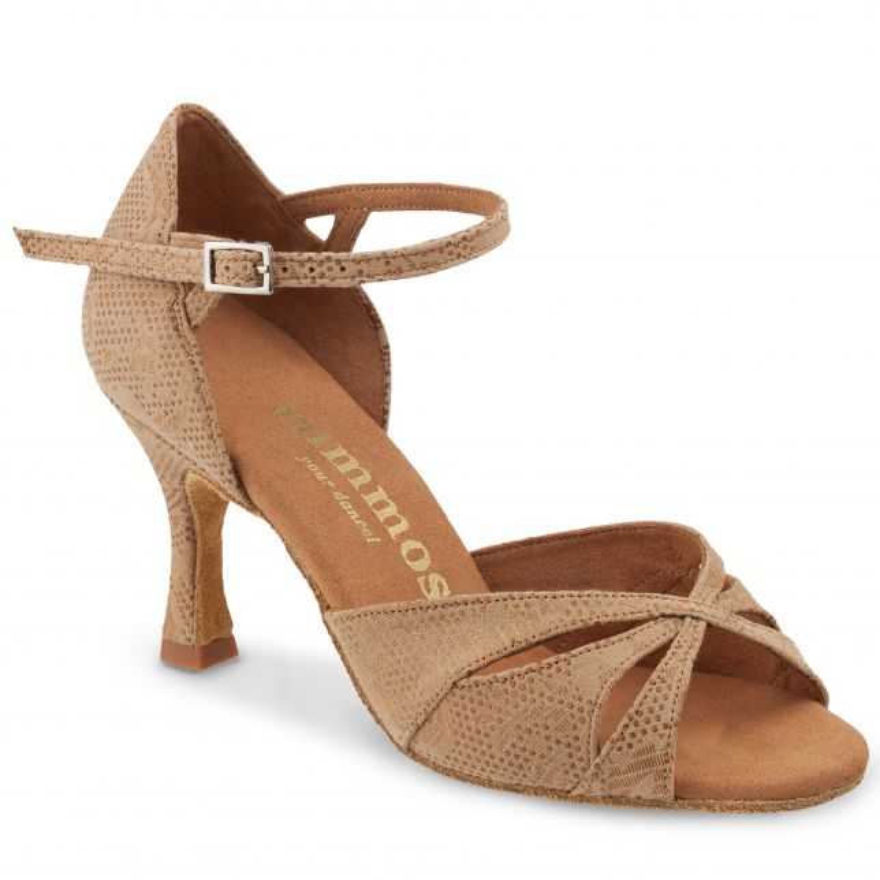 "Chaussures de danse Rummos ""Kamila"" cuir tan nehru beige"