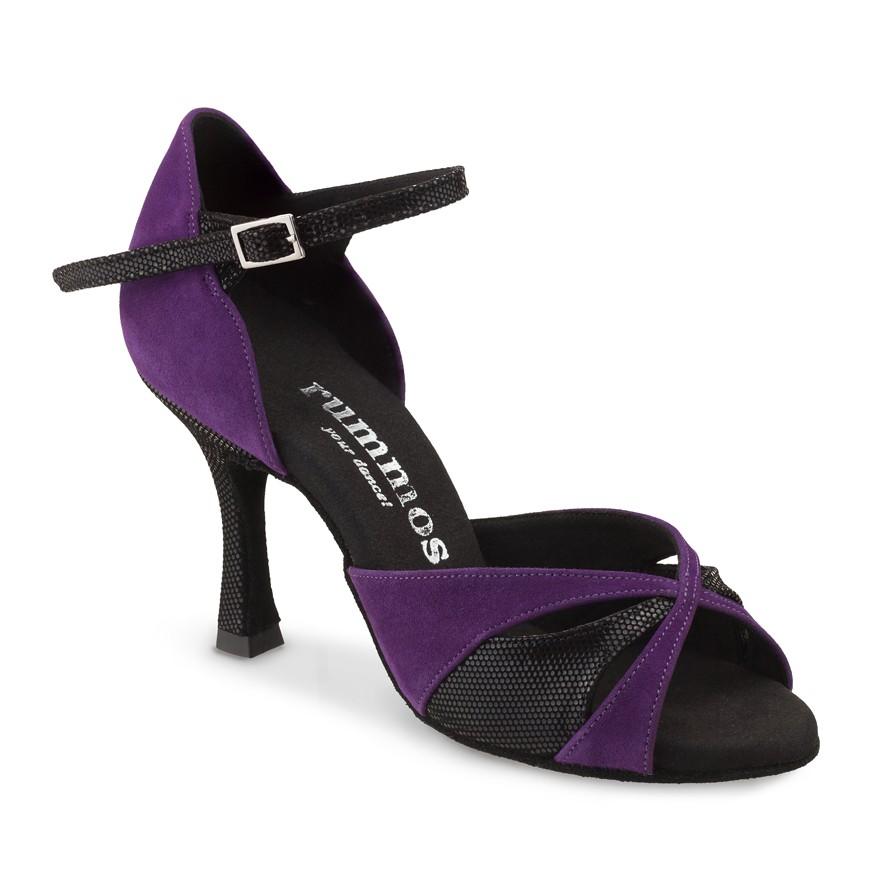 """Chaussures de danse Rummos """"Kamila"""" daim noir et violet"""