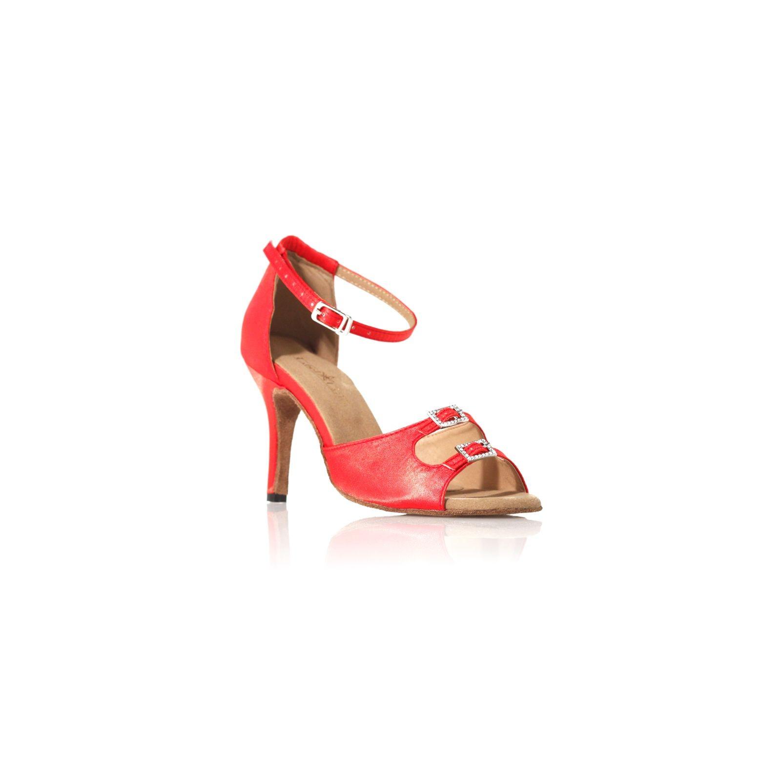 chaussures de danse label latin strass rouge. Black Bedroom Furniture Sets. Home Design Ideas