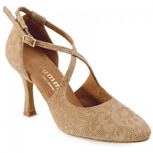 "Chaussures de danse Rummos ""Olivia"" cuir tan nehru beige"