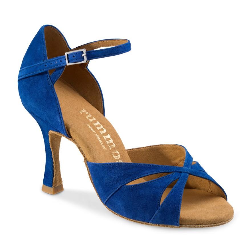 "Chaussures de danse Rummos ""Kamila"" daim bleu royal"