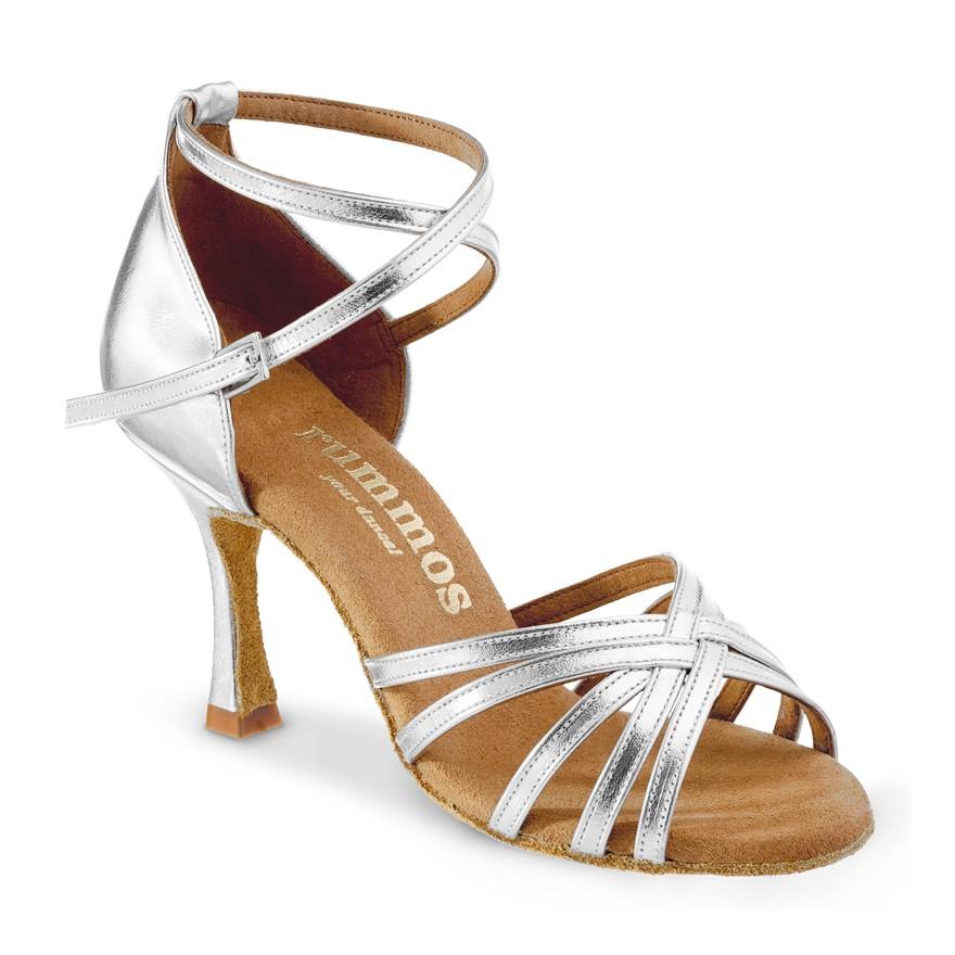 "Chaussures de danse Rummos ""Fabia"" cuir argent"