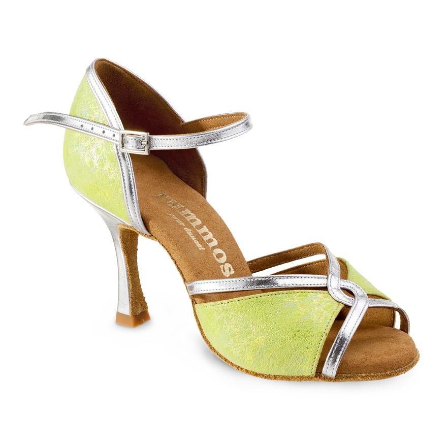 "Chaussures de danse Rummos ""Selma"" Cuir vert et argent"