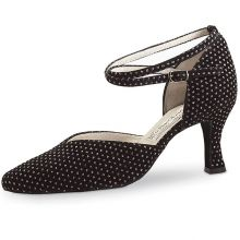 "Chaussures de danse Werner Kern ""Betty"" 6,5 cm broca noir"