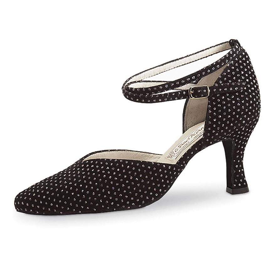 "Chaussures de danse Werner Kern ""Betty"" 6,5 cm broca noir"