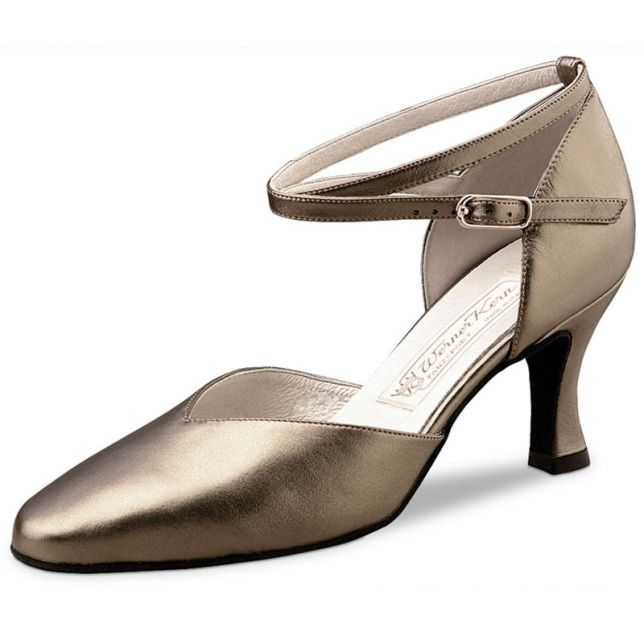 "Chaussures de danse Werner Kern ""Betty"" 6,5 cm cuir or"
