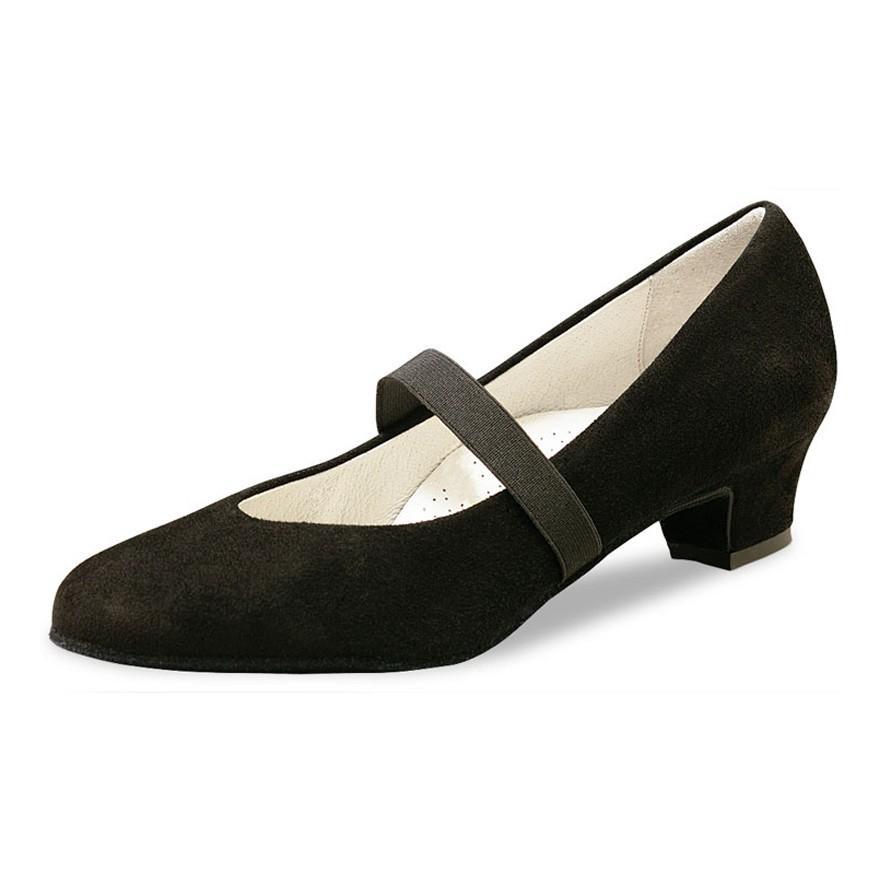 "Chaussures de danse Werner Kern ""Daniela"" 3,4 cm daim noir"