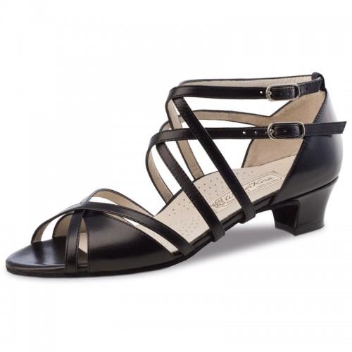"Chaussures de danse Werner Kern ""Eva"" 3,4 cm cuir noir"