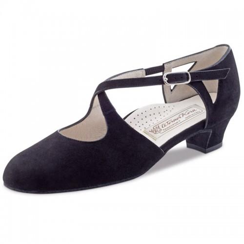 "Chaussures de danse Werner Kern ""Gala"" 3,4 cm daim noir"