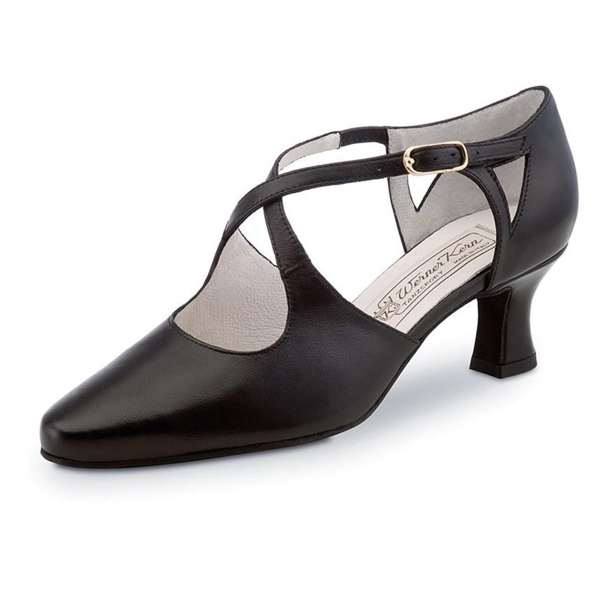 """Chaussures de danse Werner Kern """"Ines"""" 3,5 cm cuir noir"""