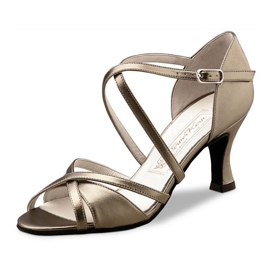 """Chaussures de danse Werner Kern """"July"""" 6,5 cm cuir or antik"""