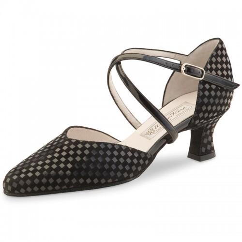 "Chaussures de danse Werner Kern ""Patty"" 5,5 cm quadratino noir"