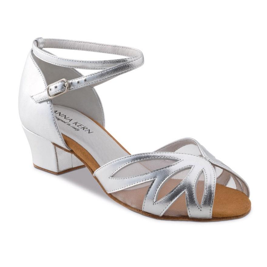 """Chaussures de danse Anna Kern """"Robina"""" 3,5 cm cuir argent"""